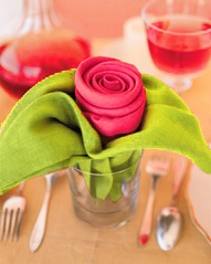 Rose Shape Napkins