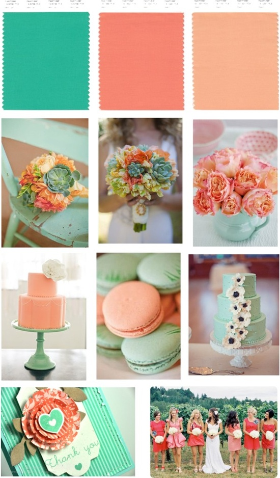 Mint and Peach Color Palette