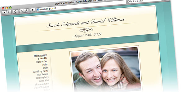 Wedding Website at eWedding.com