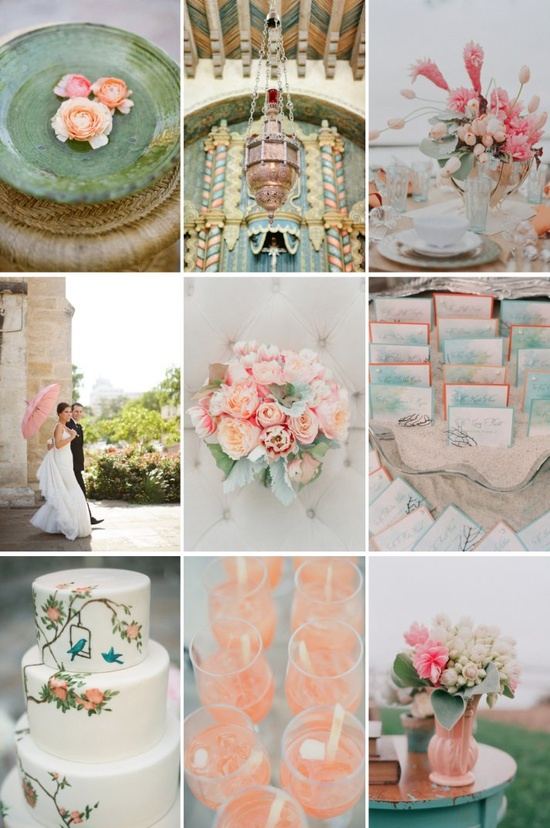Mint and Pale Pink Color Scheme