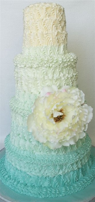 Embellished Ombre Wedding Cake