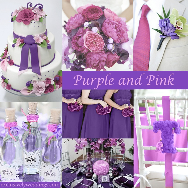 Tips for coordinating your wedding colors ewedding photo source exclusivelyweddings purple and pink wedding colors junglespirit Images