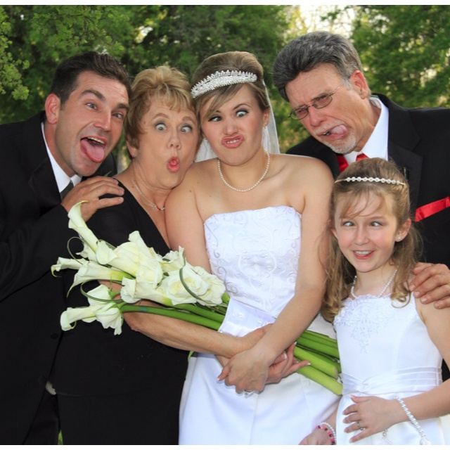 Funny Face Wedding Photo