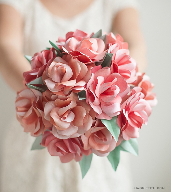 whimsical paper flower centerpieces