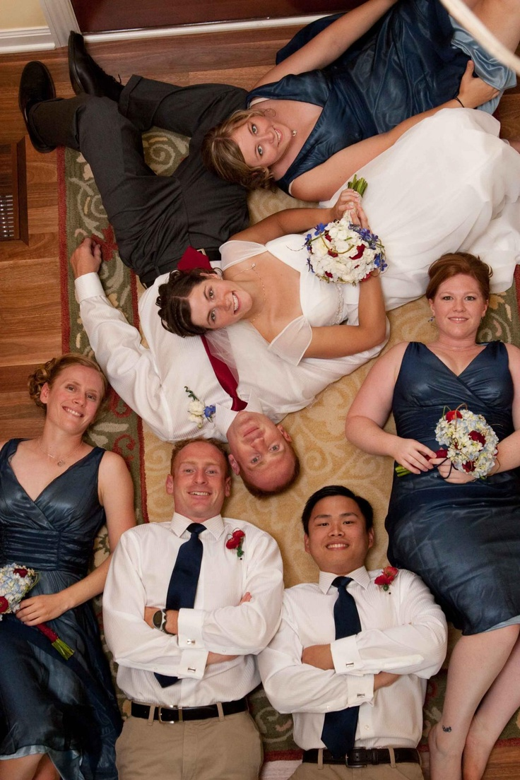Unique Wedding Party Photo