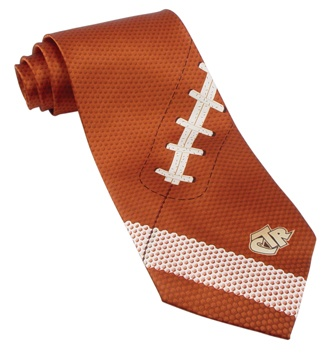 Football Theme Tie for Groomsmen