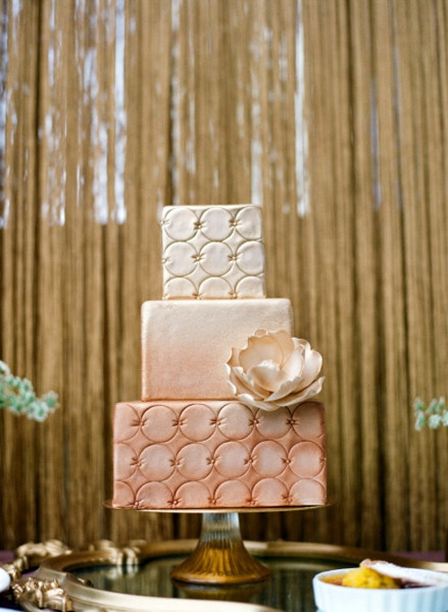 Classy, Elegant, and Vintage Ombre Wedding Cake