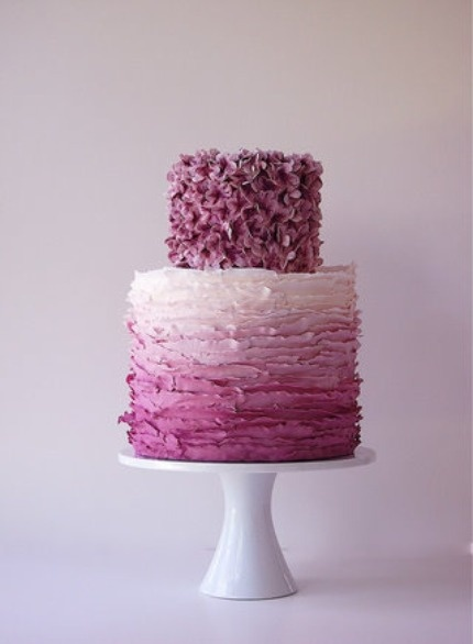 Artistic Ombre Wedding Cake