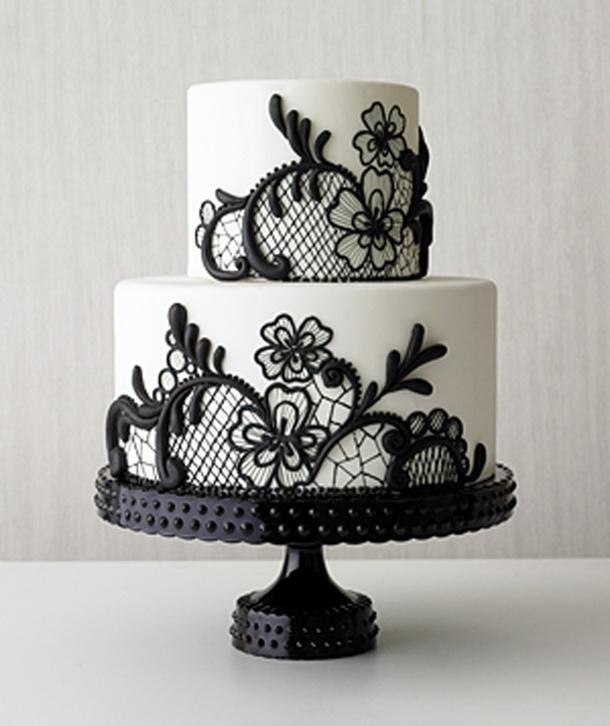Lace Style Wedding Cake