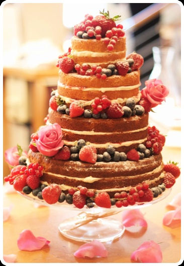 Sponge Wedding Cake with Fruit
