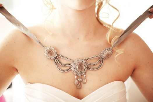 Ribbon Wedding Necklace