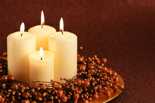 Candles with Berries