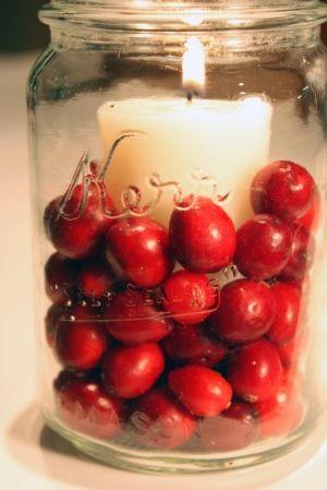 Jar Candles with Berries