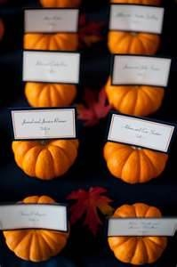 Mini Pumpkin Place Card Holders