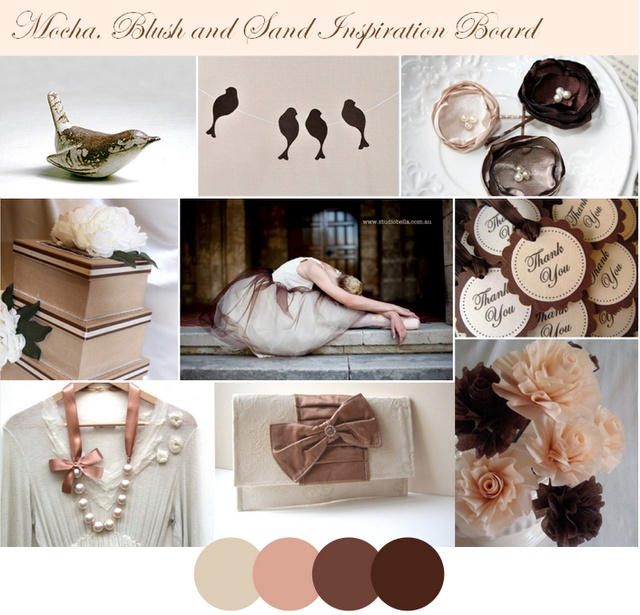 Mocha, Blush, and Sand Color Palette