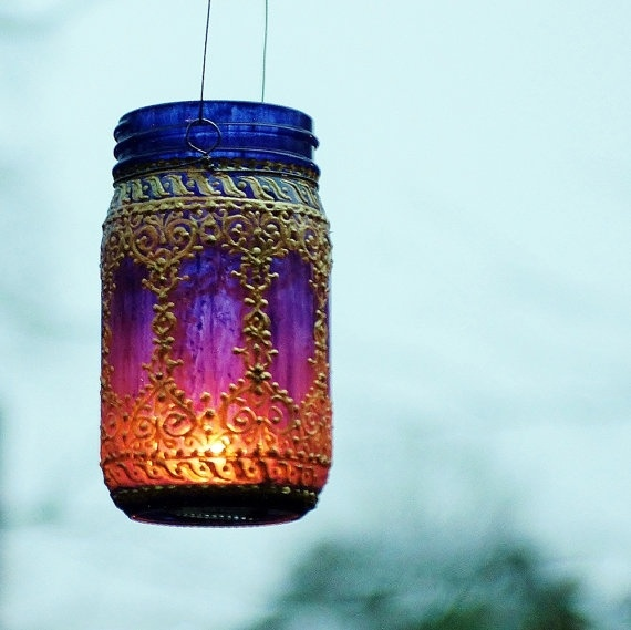 Recycled Lanterns with Mason Jars