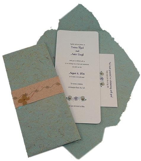 Recycled Paper Wedding Invitation