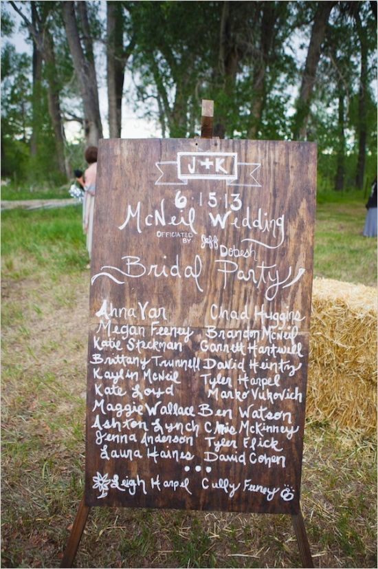 Vintage Wooden Wedding Sign