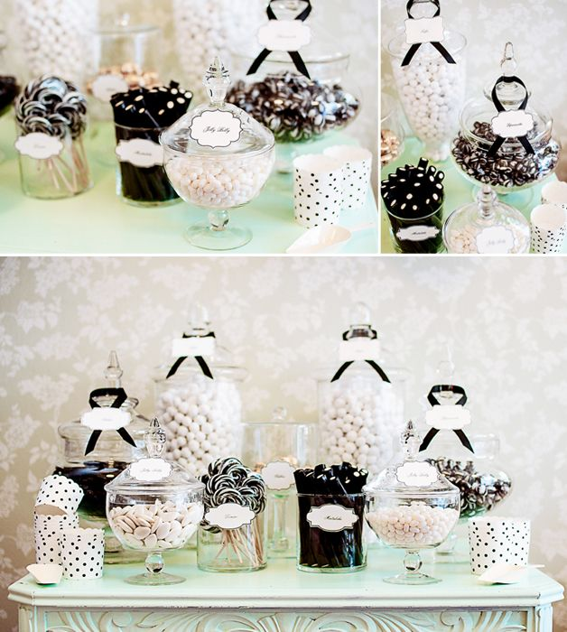 Black and White Candy Buffet