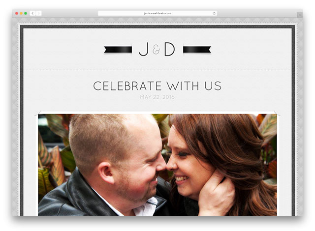 wedding website inspiration