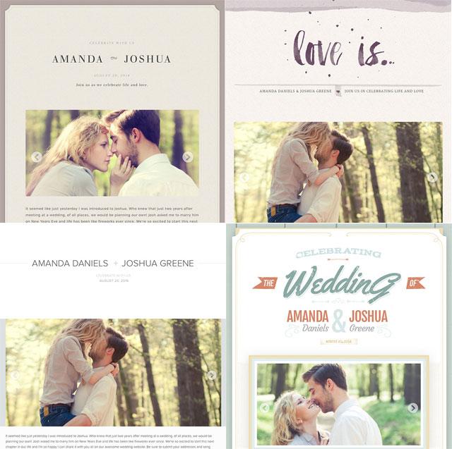 wedding webpage themes